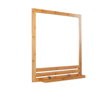 Mirror with 1 shelf natural bamboo 60X66CM