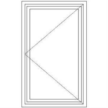 Window Hardwood NC1 Full Pane-w610x930mm