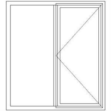 Window Hardwood ND2 Full Pane-w1150x1200mm