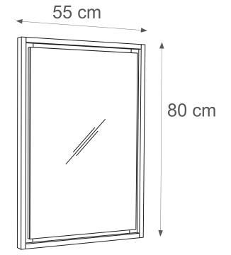 Mirror with frame SENSEA Storm 80X55CM