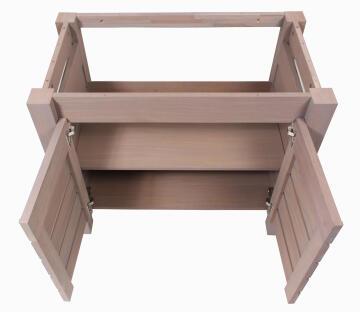 Cabinet with 2 doors SENSEA Moorea natural 90CM