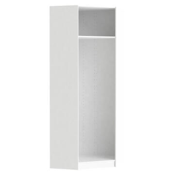 Corner Cabinet Space Home White H240xW73.3xD73.3cm