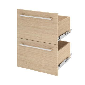 Single basin cabinet 2 drawer SENSEA Remix natural oak 46x45x67cm