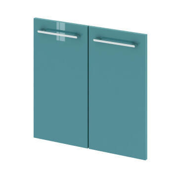 Wall hung cabinet 2 door SENSEA Remix laguna green 30x58x1,8cm