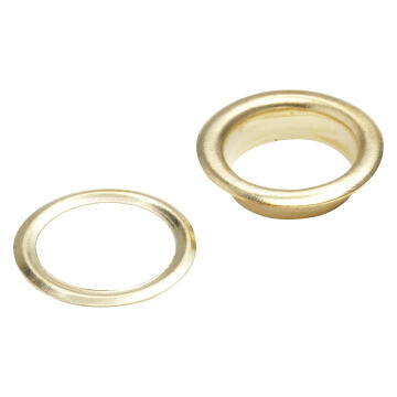 Brass plated eyelets 10mm 25pc standers