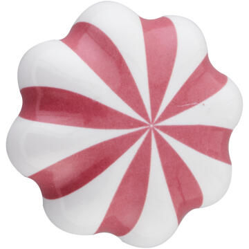 Cabinet knob ceramic helen 36mm white/red inspire