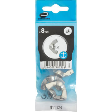 WING NUT D8 4P STSTEEL A4