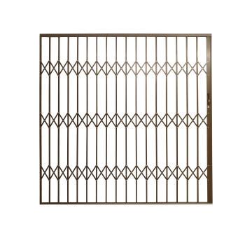 Aluminium trellis gate 3500x2100mm bronze armourdoor
