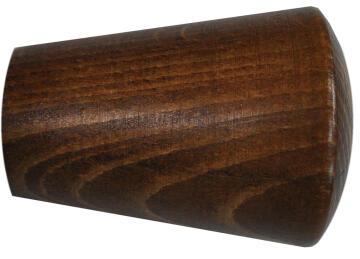 Curtain Rod Fanial Screw INSPIRE 41mm Diameter Dark Oak