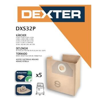 Dustbags Karcher A2200/Wd3000 Dexter