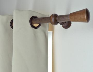 Curtain Rail Bracket Extendable D28mm Dark Oak 85-130mm