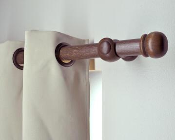 Curtain Rod INSPIRE Wood 35mm Diam Dark Oak