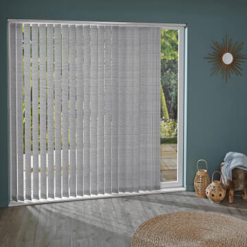 Vertical Blind Panel H260 Juno Grey 89mm