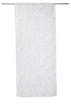 Café Curtain Rod Insulated Finger White & Grey 90x210cm