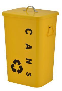 Kitchen metal bin 26L yellow