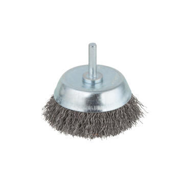 Wire cup brush, 6 mm shank WOLFCRAFT