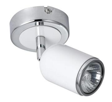 RADIANT SPOT LIGHT SATIN WHITE/CHROME