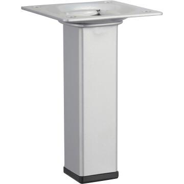 Furniture leg aluminium look hettich