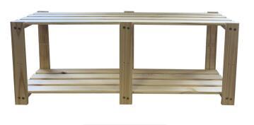 Kit 2-Shelf Pine w1200xh450mm
