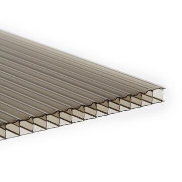 Polycarbonate Sheet Multiwall Bronze 5mm thick-2000x1000mm