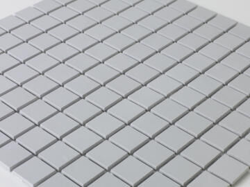 Mosaic Solid surface smooth - 2,5 x 2,5 cm - roll 100 x 50 cm - 7046 Light Grey