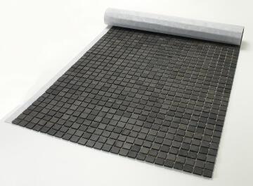 Mosaic natural stone - 2,5 x 2,5 cm -roll 100 x 50 cm - 915 Graphite