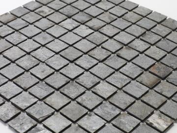Mosaic natural stone - 2,5 x 2,5 cm -roll 100 x 50 cm - 913 Bronze Ocean