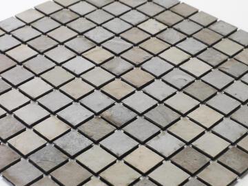 Mosaic natural stone - 2,5 x 2,5 cm -roll 100 x 50 cm - 901 Tan Beige