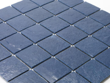 Mosaic Solid surface resin stone -5 x 5 cm - roll 100 x 50 cm - 5003 Midnight Blue Textured