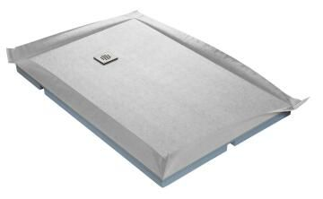 Shower tray to be tiled COMPACT - ultra flat off-set waste - 120 x 90 cm