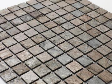 Mosaic natural stone - 2,5 x 2,5 cm -roll 100 x 50 cm - 902 Copper