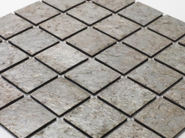 Mosaic natural stone - 5 x 5 cm -roll 100 x 50 cm - 902 Copper