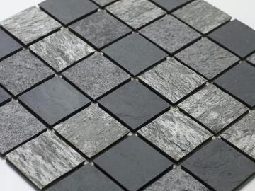 Mosaic natural stone - 5 x 5 cm -roll 100 x 50 cm - 952 Mixed Grey