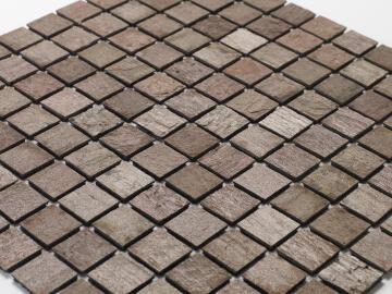 Mosaic natural stone - 2,5 x 2,5 cm -roll 100 x 50 cm - 907 Mars stone