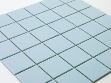 Mosaic Solid surface smooth - 5 x 5 cm - roll 100 x 50 cm - 6034 Turquoise Pastel