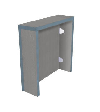 Concealed Cistern tileable box kit with 4 panels (125 x 60 cm + sides) - Thickness 3 cm