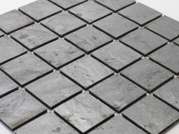 Mosaic natural stone - 5 x 5 cm -roll 100 x 50 cm - 913 Bronze Ocean