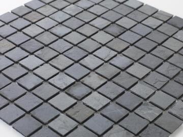 Mosaic natural stone - 2,5 x 2,5 cm -roll 100 x 50 cm - 958 Lava Stone / Flagstone