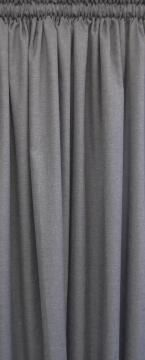 MICROLINEN LINED CURTAIN CHARCOA 230X218