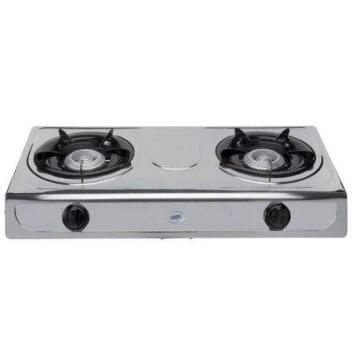2 PLATE STAINLESS STEEL STOVE + HOSE