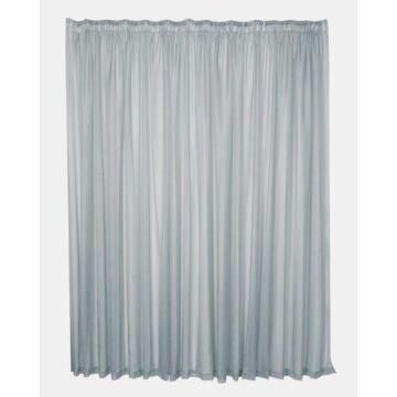 TAPED PLAIN VOILE CURTAIN GREY 500X250