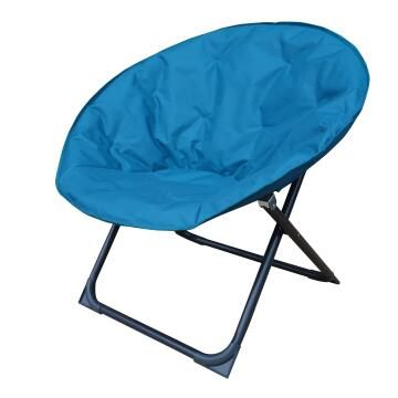 CHAIR MOON STEEL POLYESTER FOLDABLE MIAMI BLUE