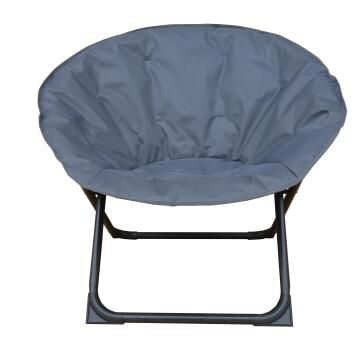 CHAIR STEEL MOON POLYESTER FOLDABLE ANTHRACITE