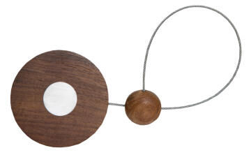 Curtain Tie Back Magnetic Walnut Disc