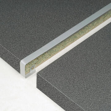 Kitchen worktop aluminium junction straight 38mm