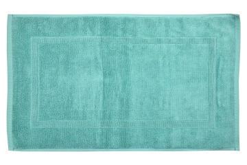 Bath mat woven rectangle cotton SENSEA Terry green 50X80CM