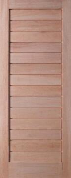 Exterior Door Meranti Horizontal Slats Framed-w813xh2032mm