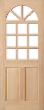Exterior Door Hardwood Kentucky 6 Panel-w813xh2032mm
