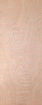 Interior Door Hollow Core Okoume Veneer Horizontal Grooves-w813xh2032mm