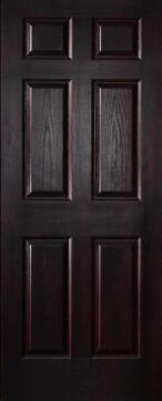 Interior Door Hollow Core Deep Moulded 6 Panel Mahogany-w813xh2032mm